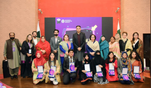 "Winners of ""Jamhoriat Hum Se"" competition"
