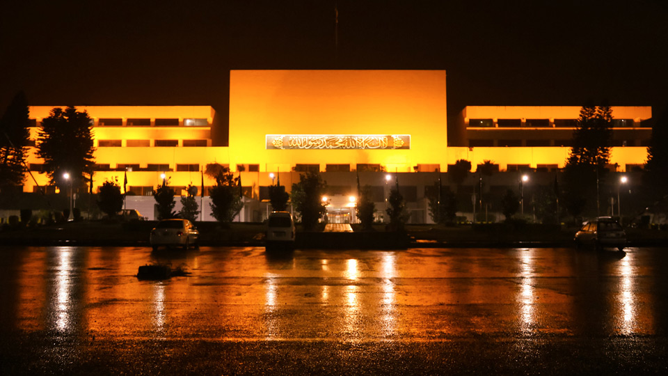 The National Assembly and President House buildings went orange on Wednesday to show solidarity with the global 16 Days of Activism campaign against Gender-Based Violence (GBV) and officially launch it in Pakistan.